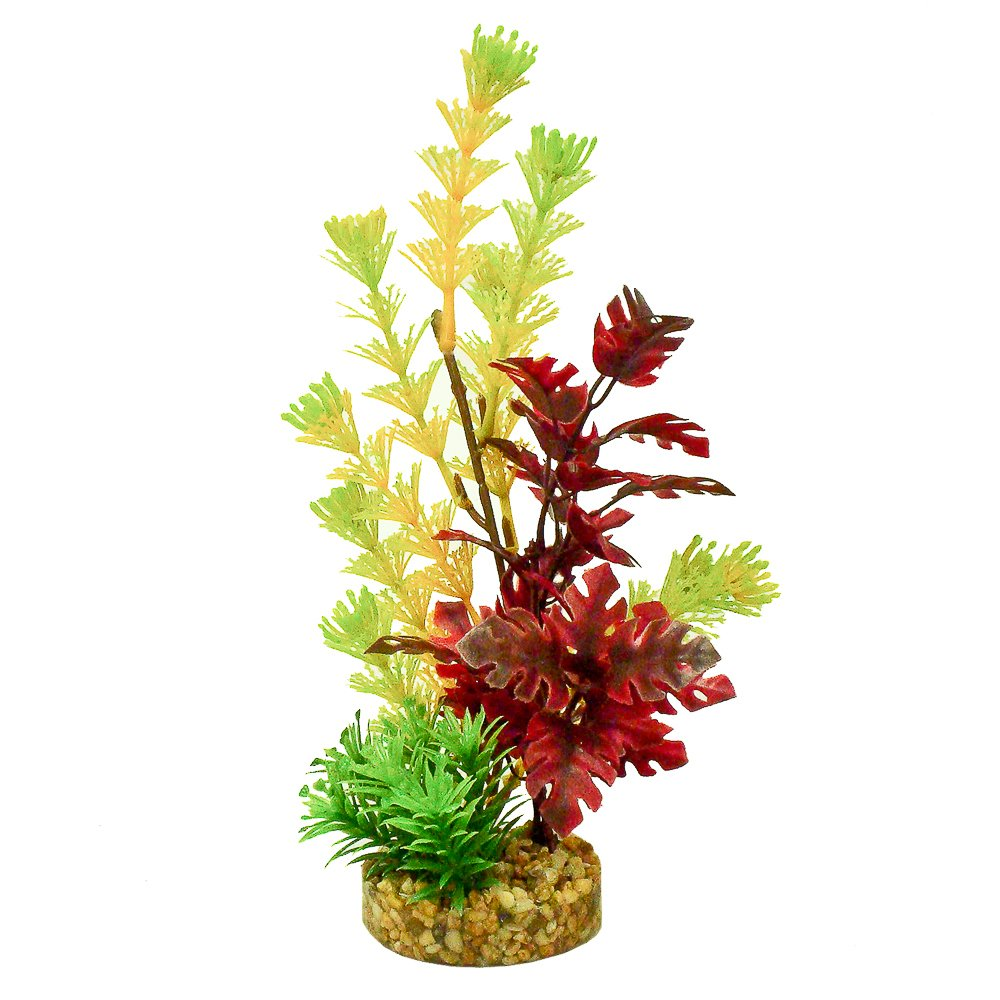 Blue Ribbon Pet Products ABLCB2027YWR Fiesta Tropic Plant for Aquarium, Yellow/Red