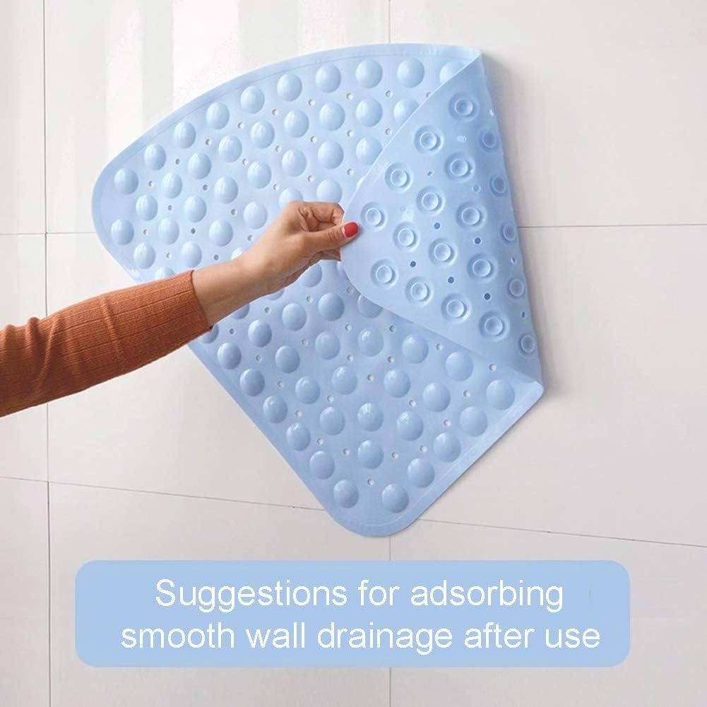 antibatterico 54 x 54 cm ventosa in PVC Tappetino da doccia Taglia libera Blue LNIMIKIY con superficie angolare bagno antiscivolo per hotel facile da pulire