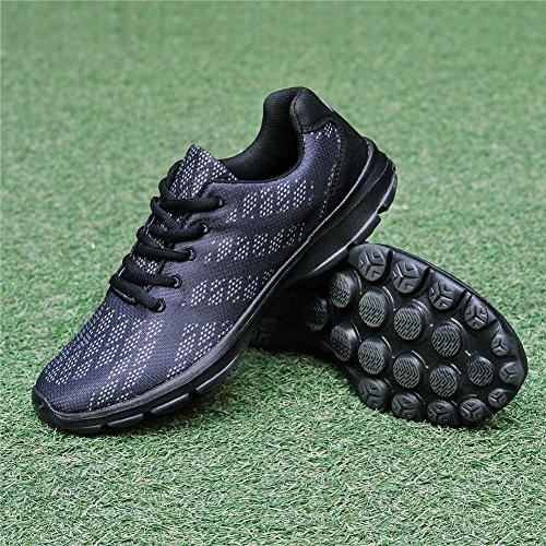 Qansi Mujeres Zapatillas Mush Ultra Ligero Tenis Atlético Corriendo Zapatos De Agua Transpirables Zuecos Sandalias Negro2