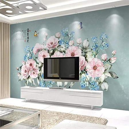 SKTYEE HD mural Custom 7746D Photo WallpaperPersonalizado Papel tapiz grande Atmósfera 3D Estética Cielo azul Nube blanca Hoja verde Techo Zenith Mural Papel tapiz 3d, 300x210 cm: Amazon.es: Bricolaje y herramientas