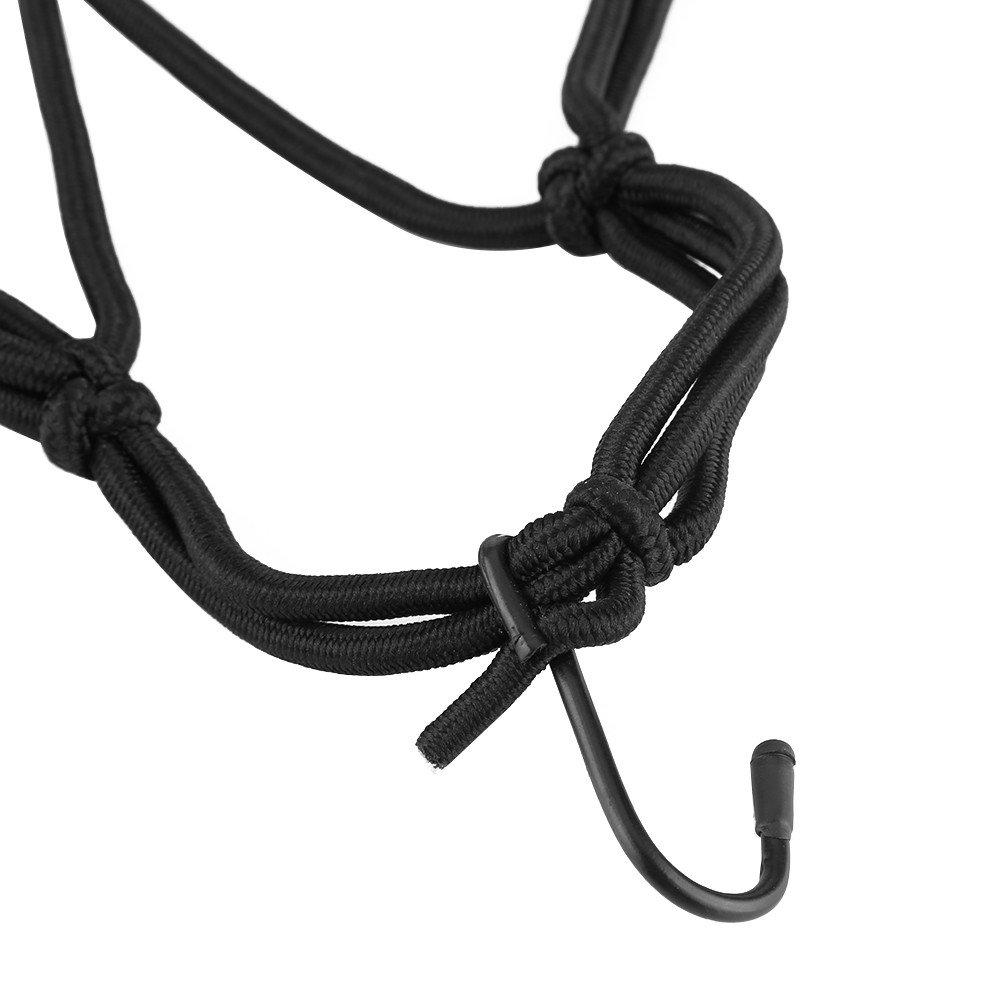 40cm Black Anauto 6 Hook Motorcycle Helmet Cargo Luggage Elastic Mesh Web Net 40