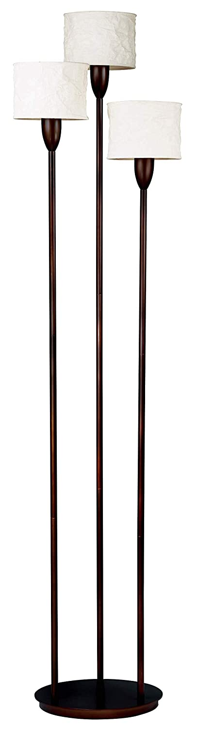 Kenroy Home 30673ORB Crush Torchiere 3 Light, Oil Rubbed Bronze