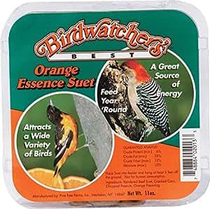 Birdwatchers CP12013 Birdwatchers Best Orange Essence Suet (Case of 12)