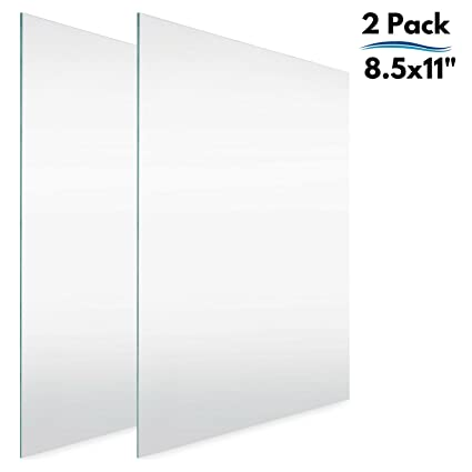 Icona Bay 8.5x11 Letter Size Frame Glass Replacement (8.5 x 11, 2 Pack)  Replacement Glass for 8.5 by 11 Document Certificate License Diploma  Picture ...