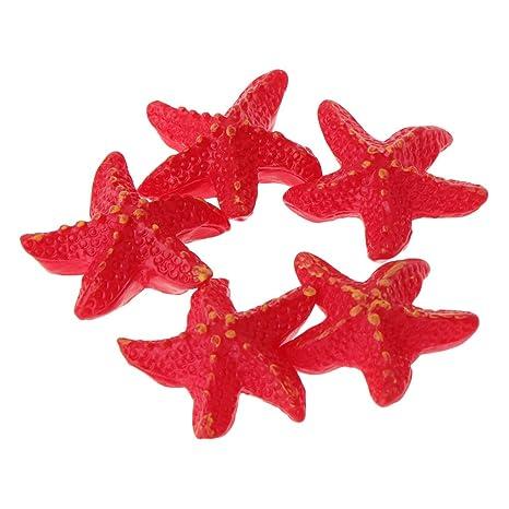 Exing - Estrella de Mar Artificial para pecera o pecera, Decoración de Acuario