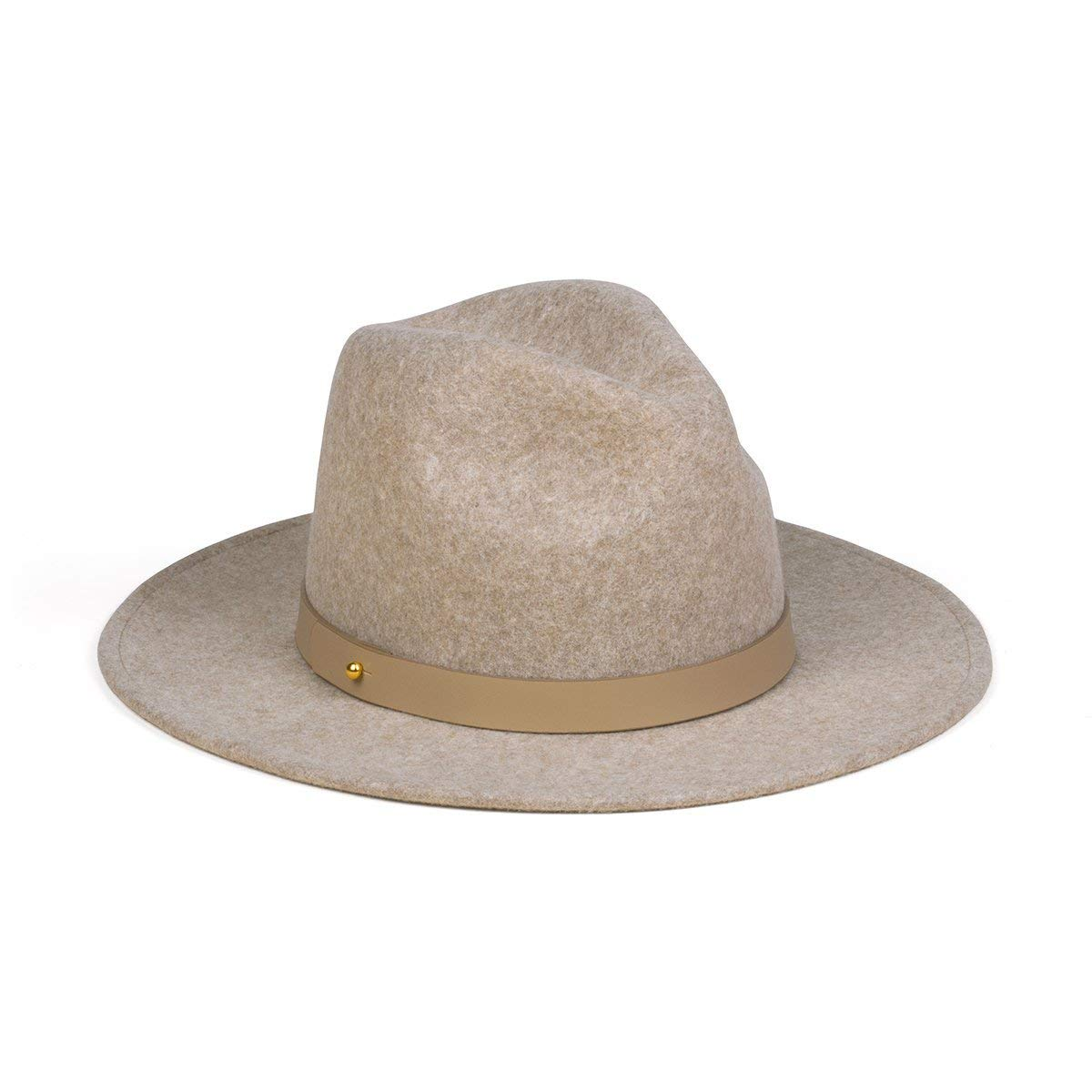 Lack of Color Women's Carlo Mack Luxe Wool Fedora (Speckled Light Brown, Small (55 cm))