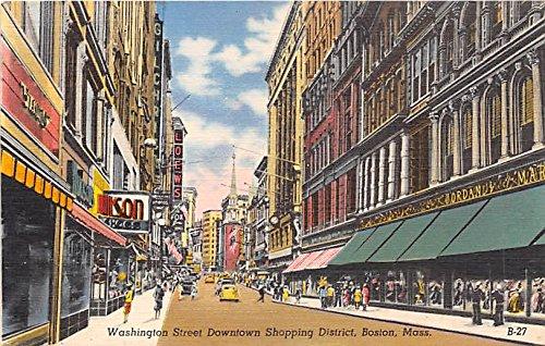 Washington Street Downtown Shopping District Boston Massachusetts - Boston Street In With Shopping