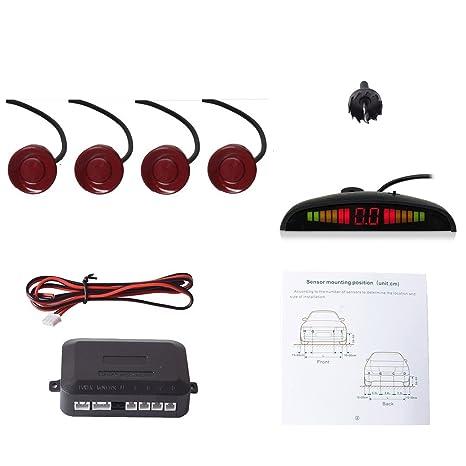 Cocar Coche Auto Vehículo Visual Reserva Radar Sistema con 4 Estacionamiento Sensores + Distancia Info Vídeo