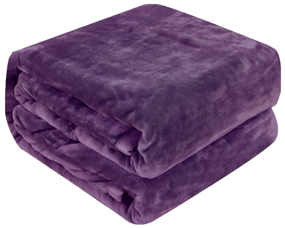 (Throw (130cm -by-150cm), Purple) - Luxury Collection Ultra Soft Plush Fleece Lightweight All-Season Throw/Bed Blanket (Throw (130cm -by-150cm), Purple) B073C2LSV5 パープル Throw (50-Inch-by-60-Inch)
