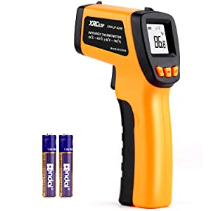 Digital Infrared Laser Thermometer Cooking Gun with Adjustable Emissivity -58°F ~ 788°F, Touchless Kitchen Laser Food Thermometer Temp Gun for Soap Candy Making Oven BBQ