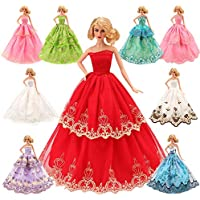 Barwa 5 Pcs Handmade Fashion Wedding Party Gown Dresses &...