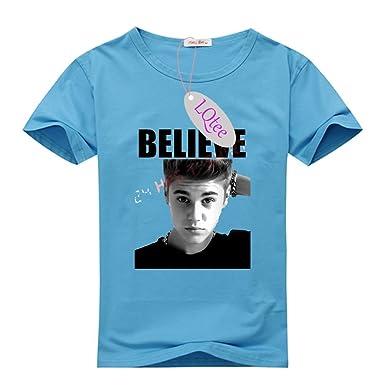 05f31ee74911 Amazon.com: LQtee DIY Justin Bieber Slim Fit T-Shirt, Customized ...