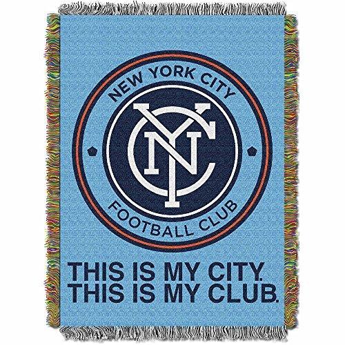 (MLS New York City FC Handmade Woven Tapestry Throw, 48