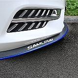 Front Lip ,HengJia Auto Parts 2.5m/8.2ft Car Rubber Bumper Lip,Front Bumper Lip ,Carbon Fiber Spoiler ,Side Skirt, 100% waterproof protection(Black Blue Edge)