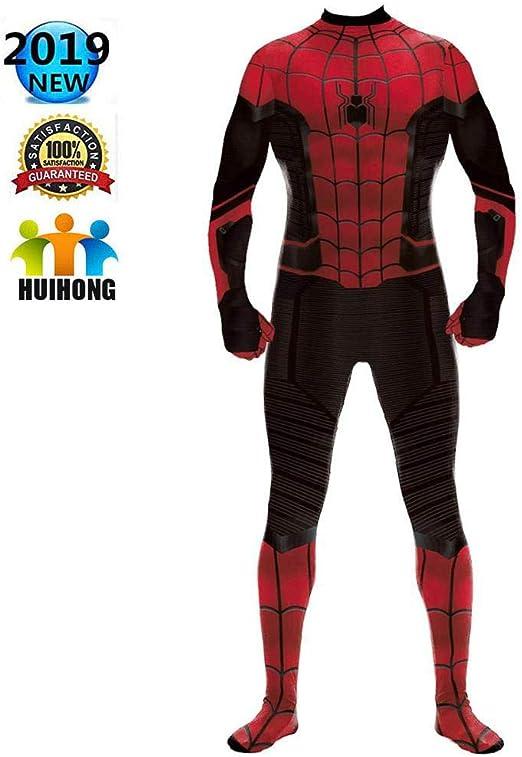 HUIHONG Hombre Mujer Spiderman Cosplay Disfraz Superhéroe ...