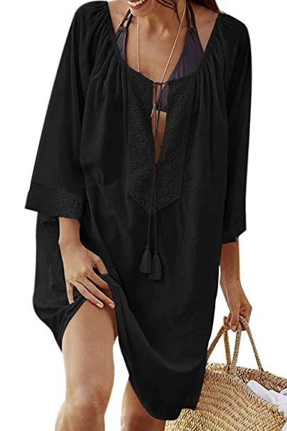 e083111900 Adisputent Women's Swimsuit Cover Ups Crochet Bathing Suit for Swimwear  Beach Mesh Cover Up Dress(
