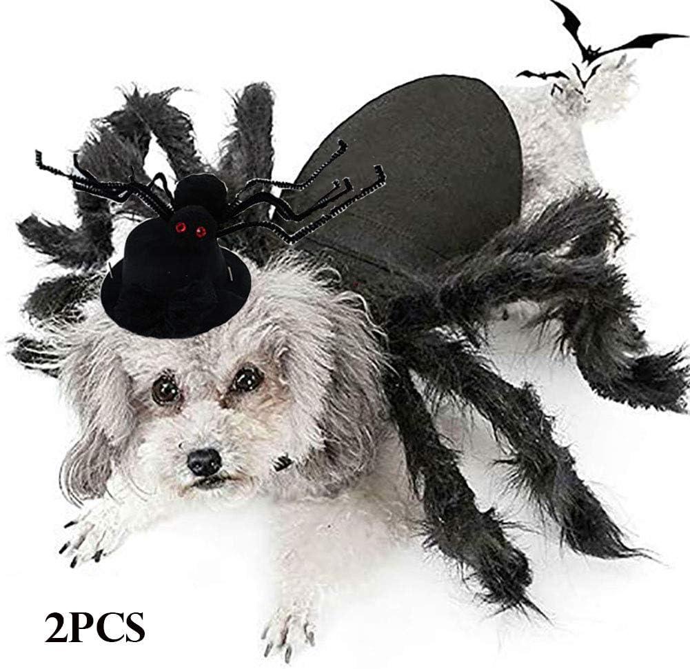 WAFOR Disfraces para Perros Halloween, Gato Perro Disfraz De Halloween DecoracióN ArañA para Gatos Y Perros, Disfraces De Halloween para Perros Pelos Medianos En Pata De ArañA
