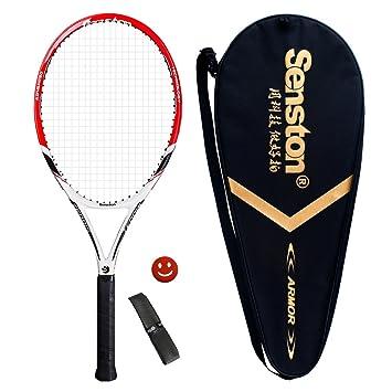 senston Raqueta de Tenis Unisex,Raqueta Tenis para Adulto/Niños,Incluido Bolsa de Tenis / 1 Grip / 1 Amortiguadores