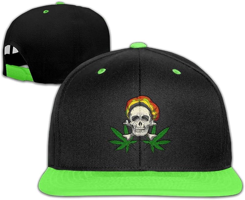GUOFULIN Skull Weed Adjustable Snapback Kids Hip Hop Hat Baseball Cap
