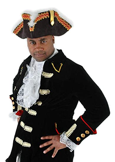 Amazon.com  Governor Tricorn Pirate Hat - ST  Clothing a7fa70adf1a5