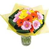 Clare Florist Gerbera Sunshine Fresh Flower Bouquet - Beautiful Display of Germini Flowers Hand Arranged by Expert Florists - Ideal Gift for Birthdays, Anniversaries and Other Special Occasions