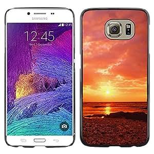 Smartphone Rígido Protección única Imagen Carcasa Funda Tapa Skin Case Para Samsung Galaxy S6 SM-G920 Sunset Beautiful Nature 63 / STRONG