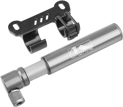 Mini Aluminium Fahrrad Luftpumpe Silber ALU Luft Pumpe kleine Fahrradpumpe
