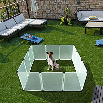 Amazon.com : EXPAWLORER Pet Playpen for Puppy - Plastic Indoor Yard Fence Durable and Large