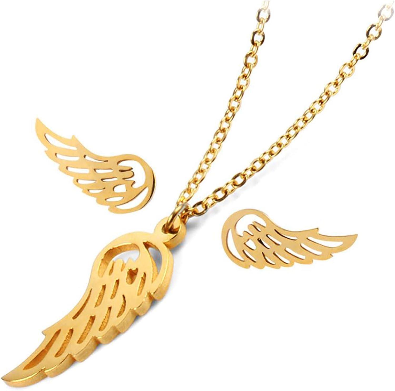 316L Stainless Steel Earrings Necklace Set Women Girl Jewelry Xmas Gift sterling