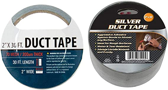6 Rolls Silver Duct Tape Box Sealing Packaging Packing Carton 2 x 10 yds New