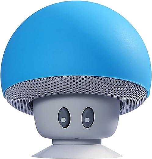 Tragbarer Bluetooth-Lautsprecher, Mini-Wireless-Lautsprecher Mit 360°-Sound, Kreative Kleine Pilzform Multifunktions-Bluetooth-Lautsprecher, Klarer...