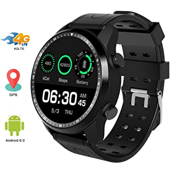 HZYWL KC06 Smartwatch, Sport Band Fitness Tracker 1GB 16GB Android ...