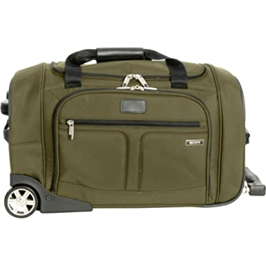 Amazon.com | Boyt Luggage Carry-on Wheeled Duffel, Olive, One Size ...