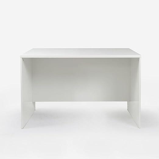 BIGMAT TEVISA Mesa de Escritorio (120 x 60 cm, Blanco): Amazon.es ...