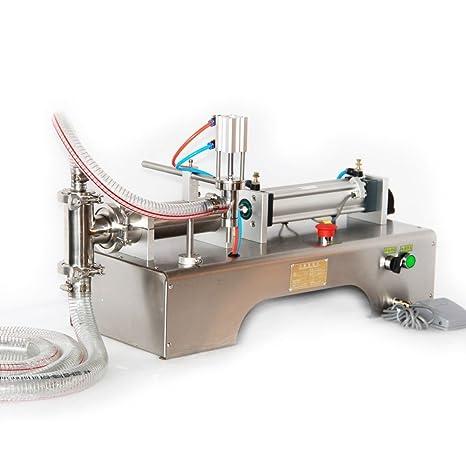 Happybuy Máquina de Llenado Líquido Horizontal Neumático Máquina de Llenado Líquida Liquid Filling Machine (doble