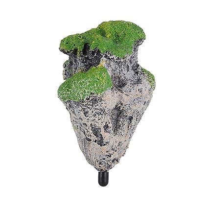 Fdit Ornamento Acuario Flotante de Roca Resina Artificial Ornamento del Acuario Piedras Decoración Adornos Pecera(