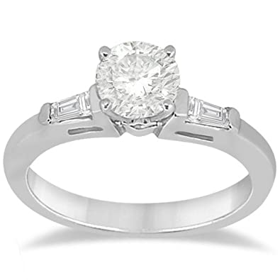2cf2510fd0a69 Image Unavailable. Image not available for. Color  Three Stone Diamond  Engagement Ring Setting ...