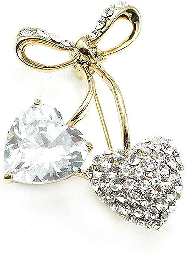 Glamorousky Elegant Brooch with Austrian Element Crystals 352