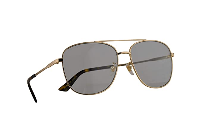 Gucci GG0410SK Gafas De Sol Doradas Con Lentes Azul Claro ...