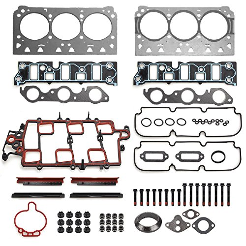 Vincos Head Gasket Set w/Head Bolt Compatible with Buick Allure Lacrosse Lesabre Lucerne Replacement For CHEVY Impala Lumina Monte Carlo and for Oldsmobile 88 Intrigue LSS Bonneville Grand Prix 3.8L ()