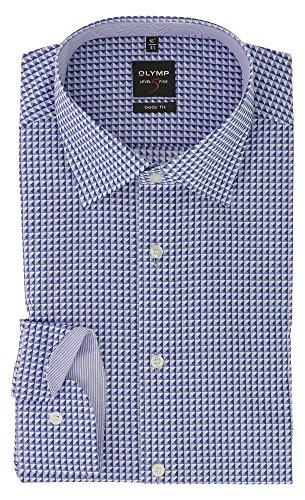OLYMP Herren Langarm Hemd | Serie Level Five mit New York Kent Kragen | Bügelleicht & Knitterfrei Body Fit | Gr. 45 Violett