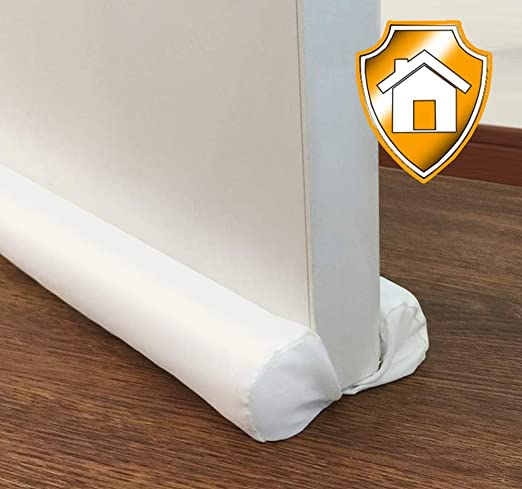 Linen Fabric Door Bottom Draught Excluder Cushion Draft Window Hallway Guard