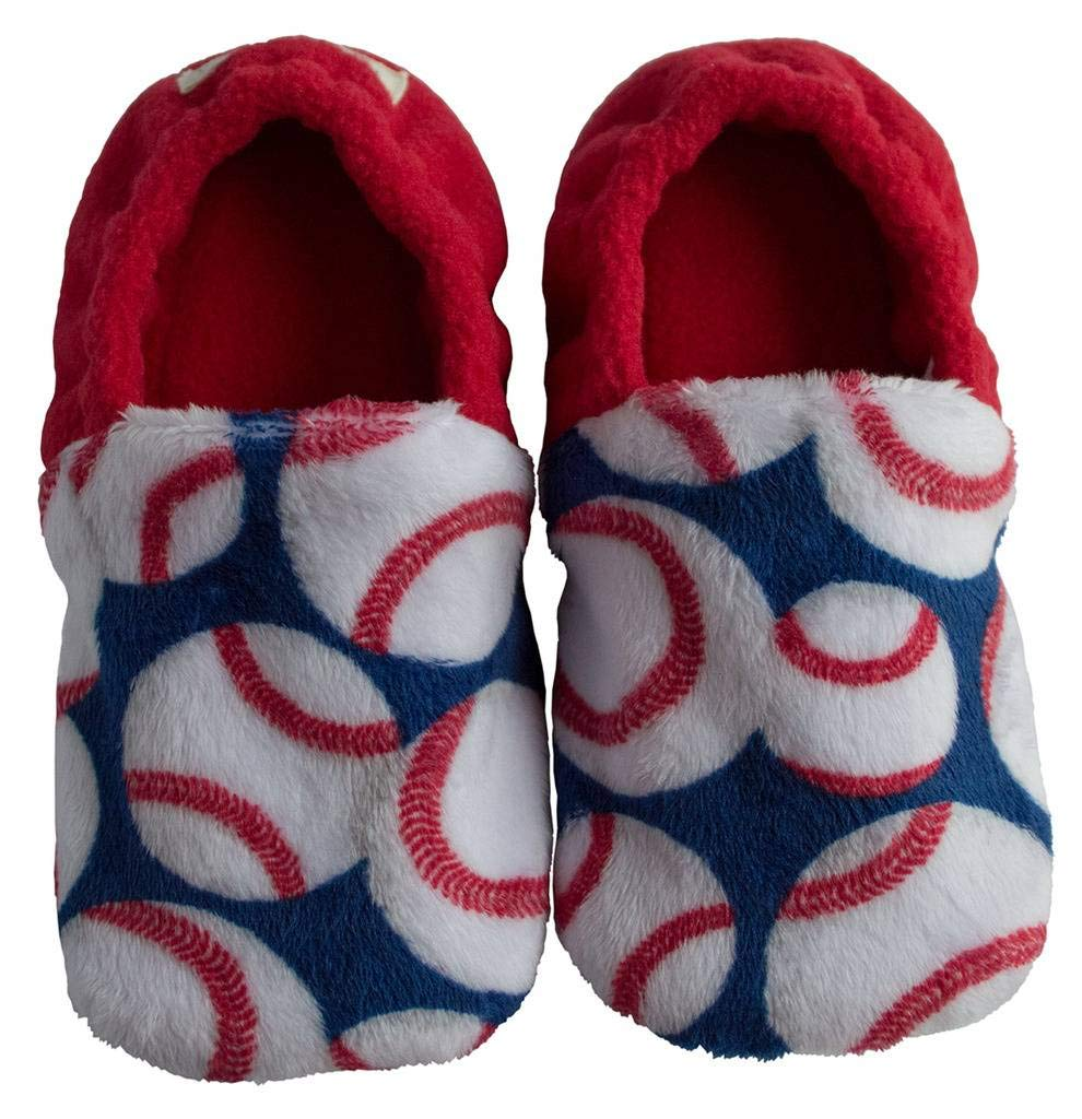 Toddler Slip Resistant House Slipper Shoes - Baseballs - Size 7 by BePe Baby (Image #5)