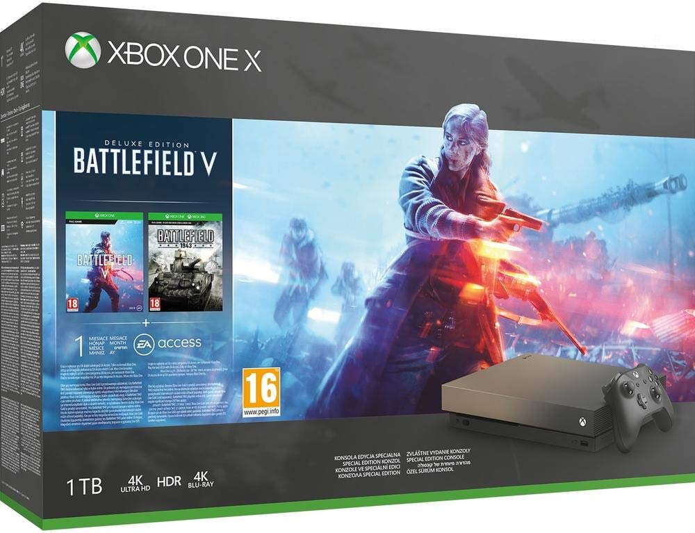BF5 Battlefield V Gold Rush Special Edition Xbox One X Bundle