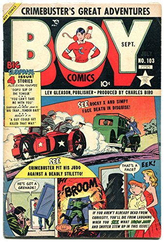 Boy Comics #103 1954- Motorcycle with sidecar cover- Golden Age VG/F