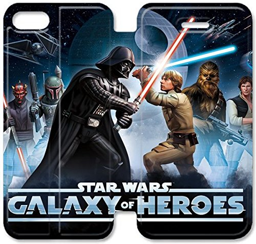 Coque iPhone 6 6s 4,7 pouces Coque Cuir, Klreng Walatina® 6 6s PU Cuir de portefeuille Coque Design By Star Wars J7M2Tv