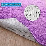 PAGISOFE Soft Fuzzy Purple Area Rugs for Kids Room