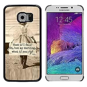 TopCaseStore / la caja del caucho duro de la cubierta de protección de la piel - Sepia Mother Love Inspiring - Samsung Galaxy S6 EDGE SM-G925