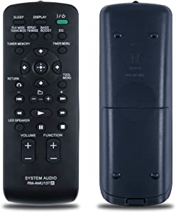 Oumeite RM-AMU137 Sony's Home Theater Replacement Remote Control. Suitable for FST-GTK11iP RDH-GTK11iP FST-GTK33iP RDH-GTK33IP.