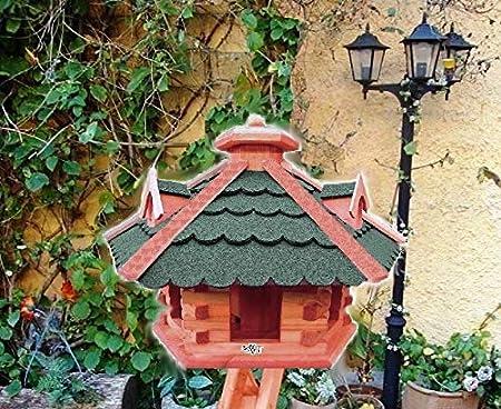 XXL Grande Pajarera, Jardín Decoración, grandes tamaños, también con vogelhausständer y Silo, Atención no montar de Amazon o para pintar de madera, con/sin soporte de pájaro pajarera verde verde: Amazon.es: Productos para